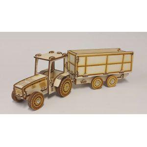 Traktor billenős pótkocsival