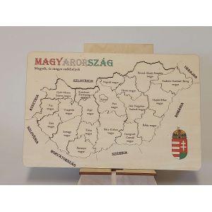 Magyarország térkép kirakós