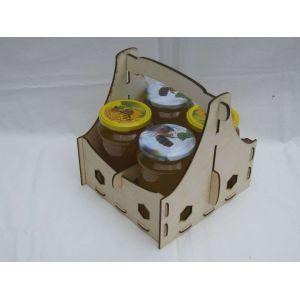 Méz szállító 4 db 730 OMME üveg