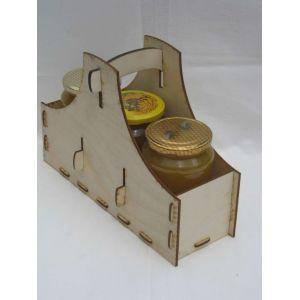 Méz szállító 3 db 730 OMME üveg