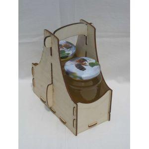 Méz szállító 2 db 730 OMME üveg